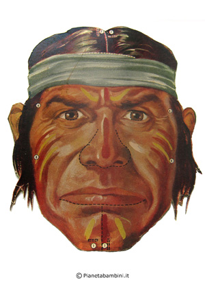 Immagine della maschera dell'indiano