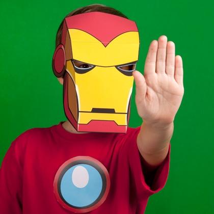 Maschera di Iron Man fai da te