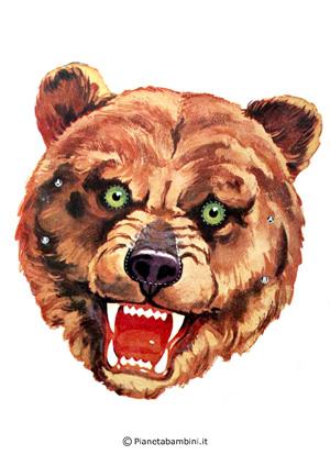 Immagine della maschera dell'orso