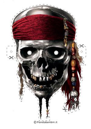 Immagine della maschera del pirata dei Caraibi