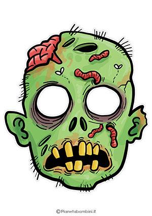 Immagine della maschera da zombie