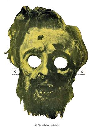Immagine della maschera dello zombie