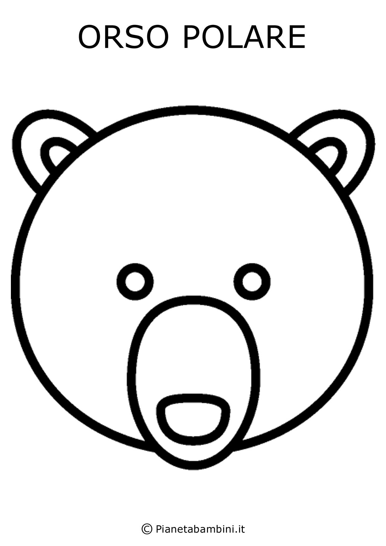 Facce di 81 animali da stampare colorare e ritagliare - Immagini di orsi da colorare in ...