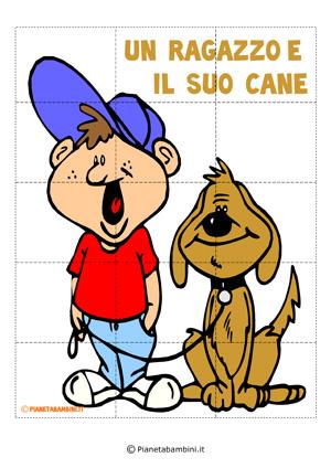 Puzzle del ragazzo con il cane