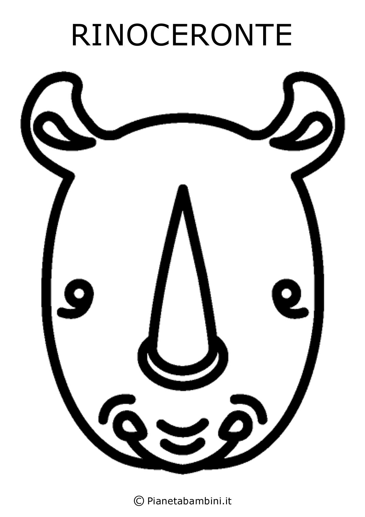 Facce di animali da stampare colorare e ritagliare