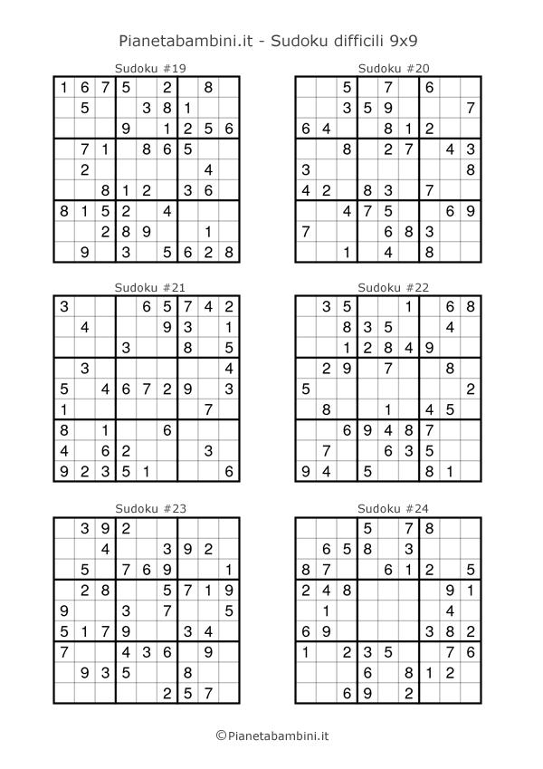 Sudoku difficili per bambini pagina 4