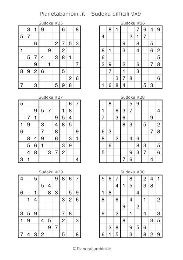 Sudoku difficili per bambini pagina 5
