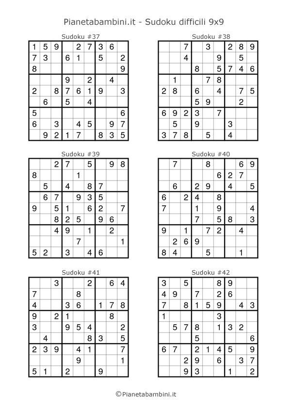 Sudoku difficili per bambini pagina 7