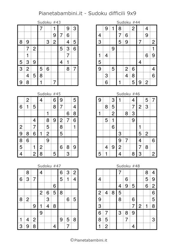 Sudoku difficili per bambini pagina 8
