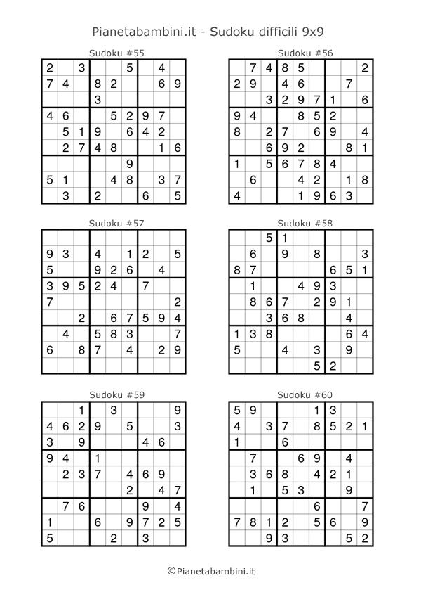 Sudoku difficili per bambini pagina 10