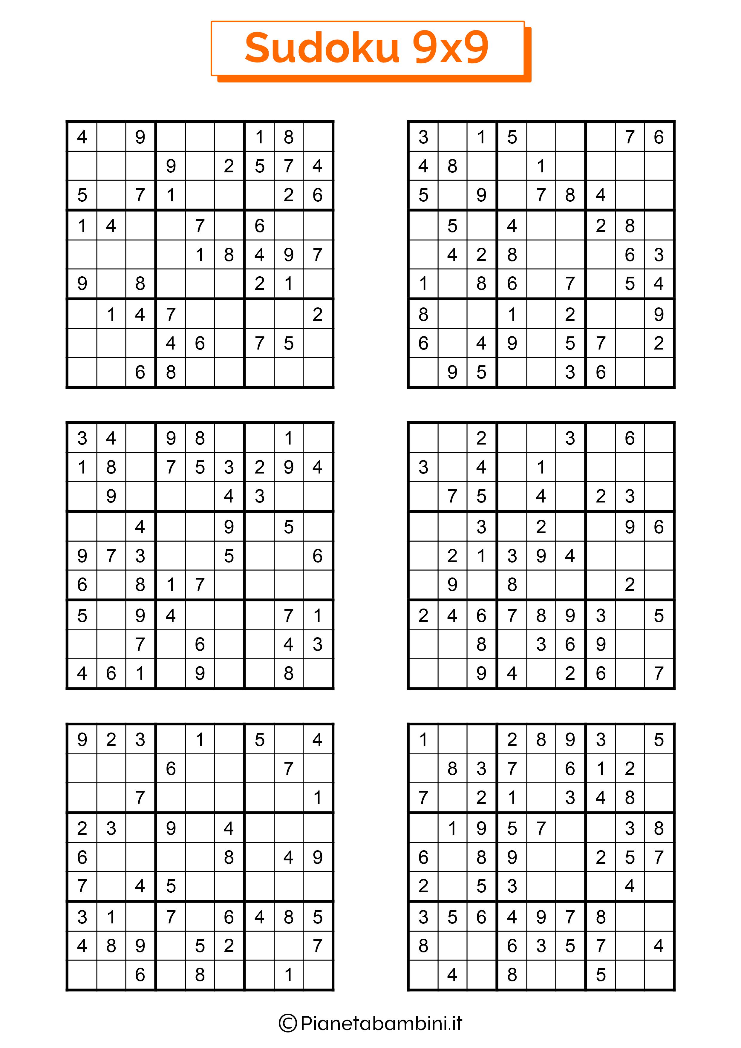 Sudoku difficili per bambini pagina 13
