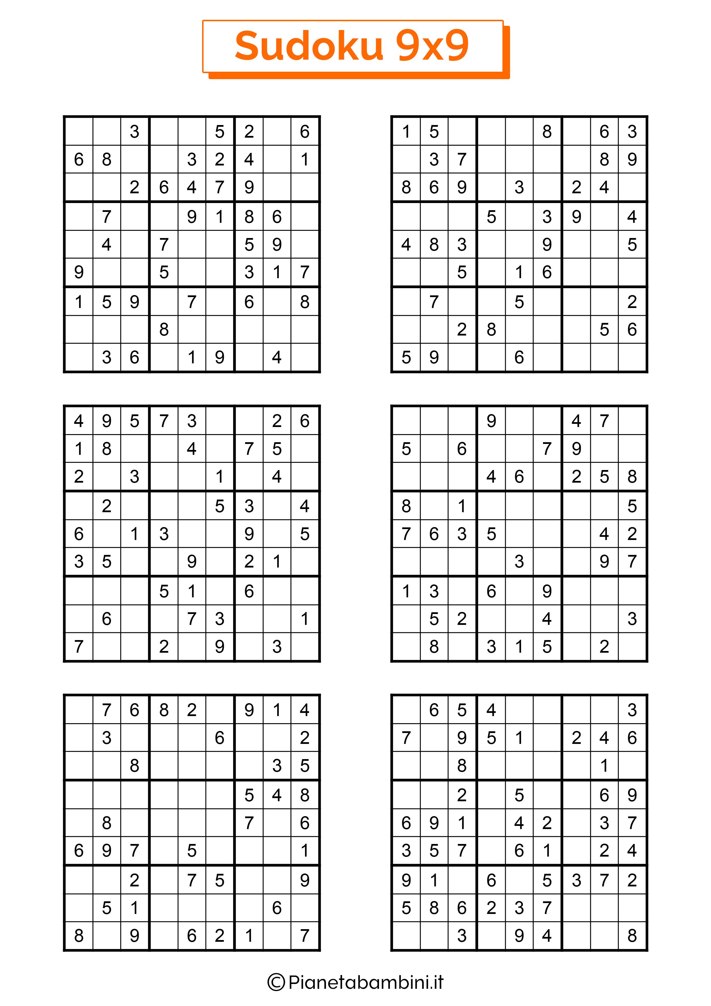 Sudoku difficili per bambini pagina 15