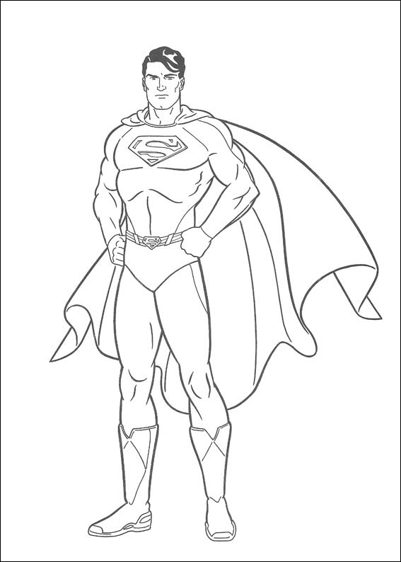 Disegni di superman da colorare pianetabambini