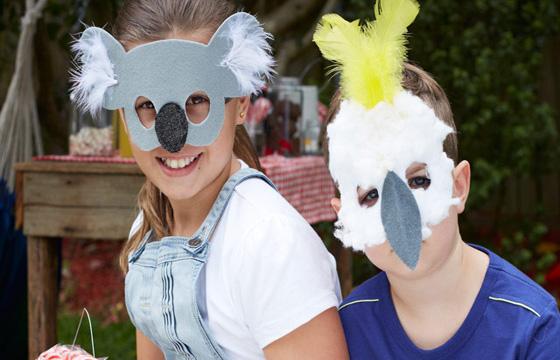 Immagine del gioco delle maschere