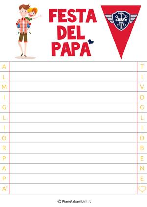 Immagine della letterina per la festa del papà n. 1