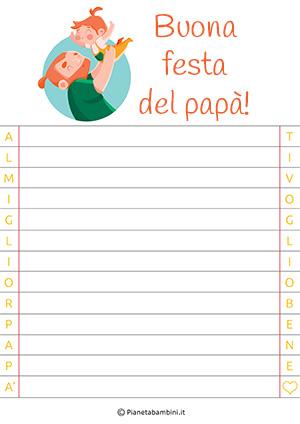 Immagine della letterina per la festa del papà n. 10