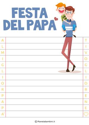 Immagine della letterina per la festa del papà n.2