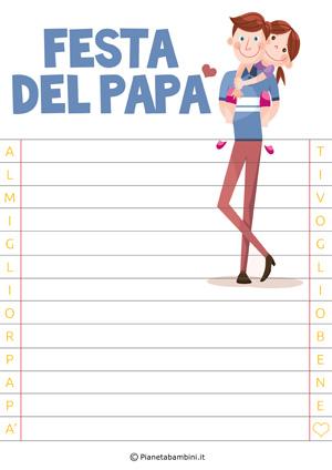 Immagine della letterina per la festa del papà n.4