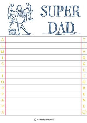 Immagine della letterina per la festa del papà n. 5