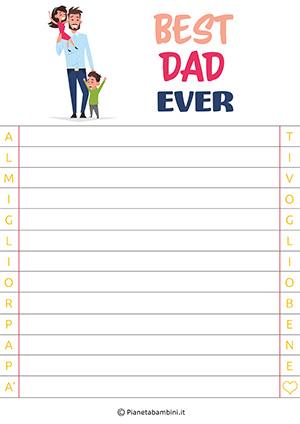 Immagine della letterina per la festa del papà n. 9