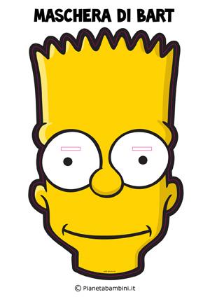 Immagine della maschera di Bart