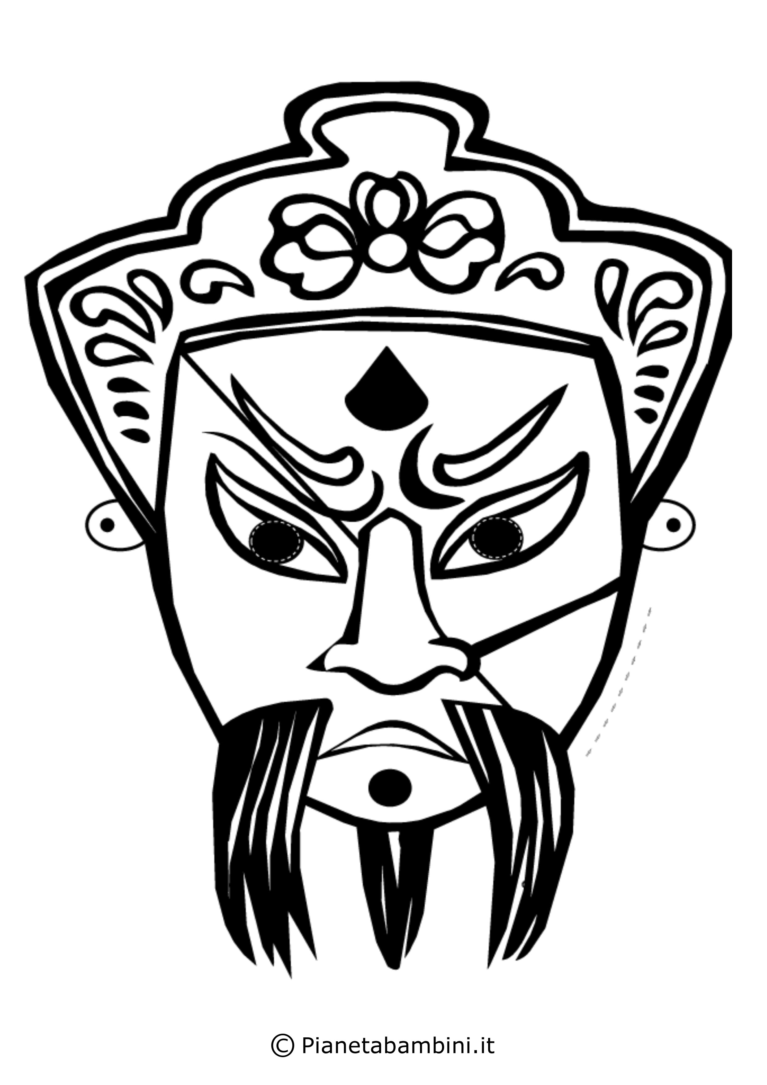 Maschera-Colorare-Cinese-3