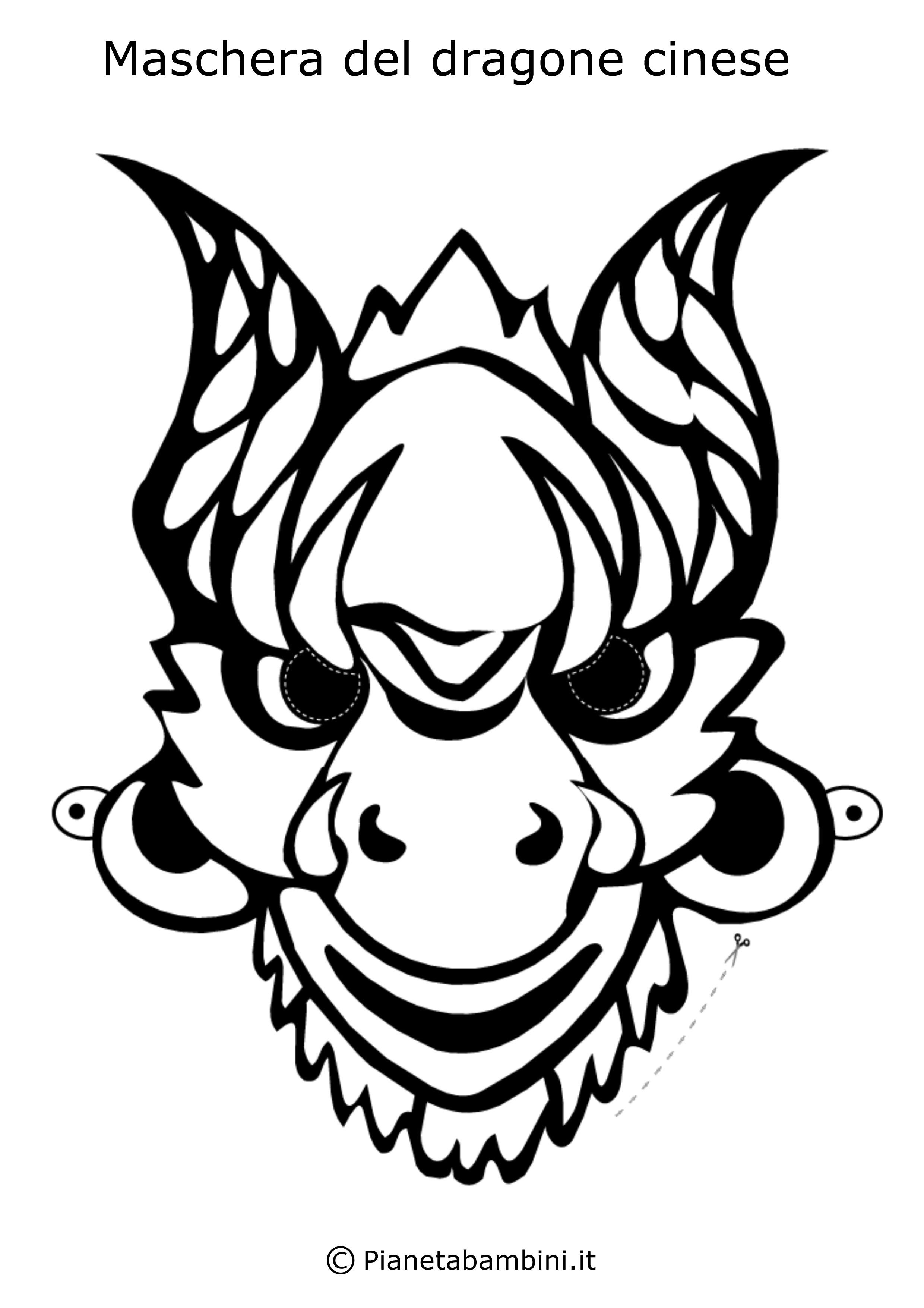 Maschera-Colorare-Dragone