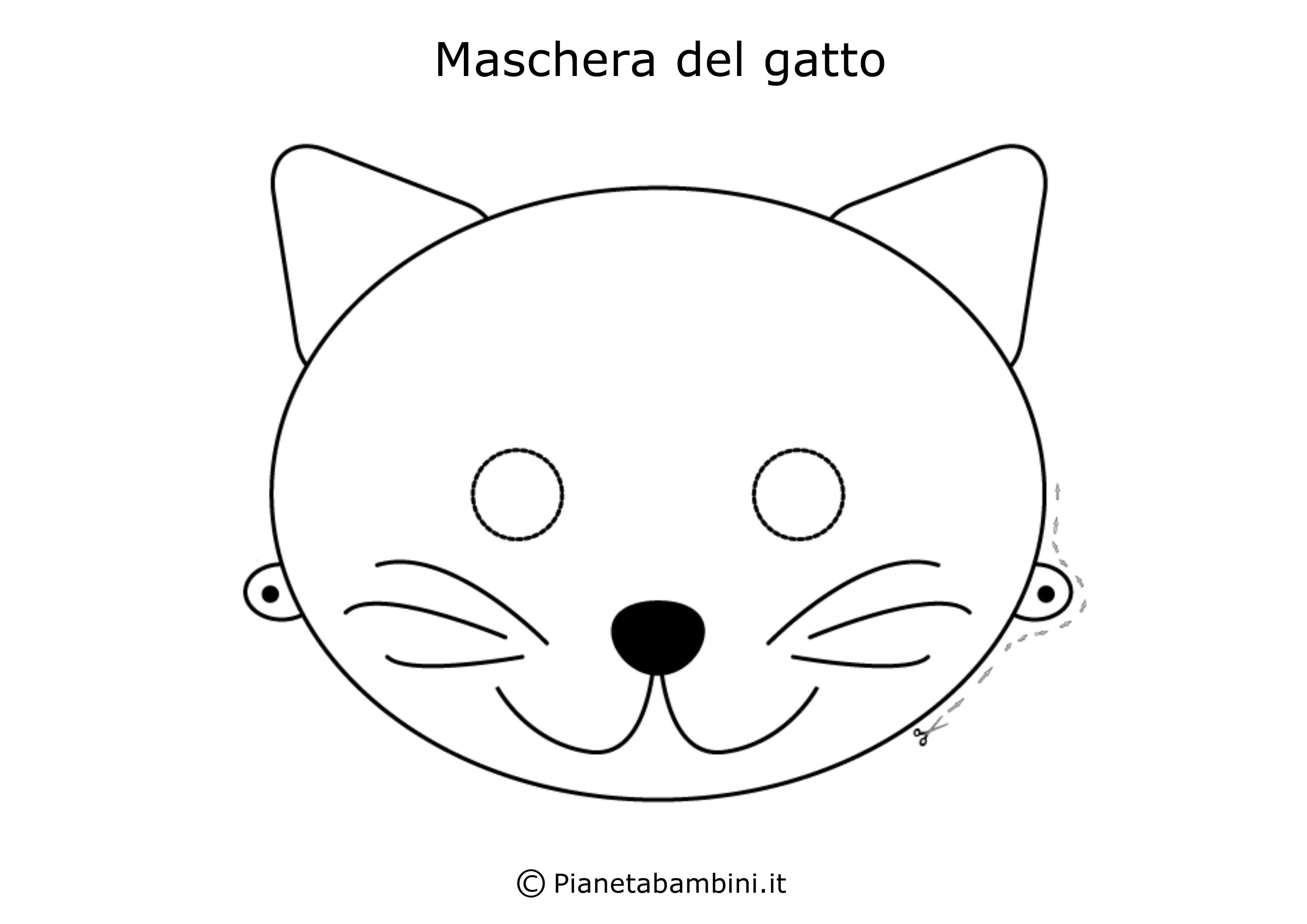 Maschera-Colorare-Gatto