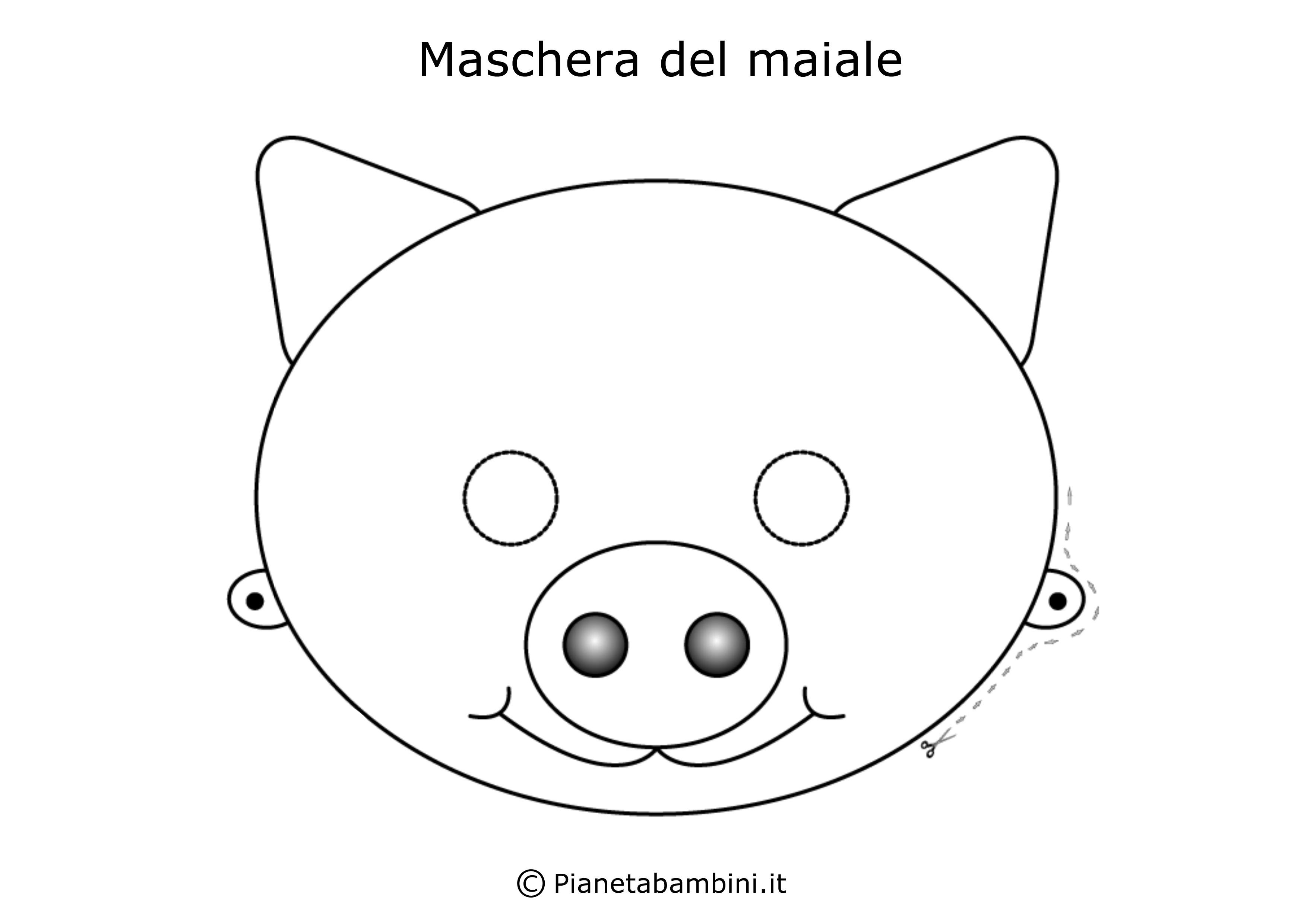 Maschera-Colorare-Maiale