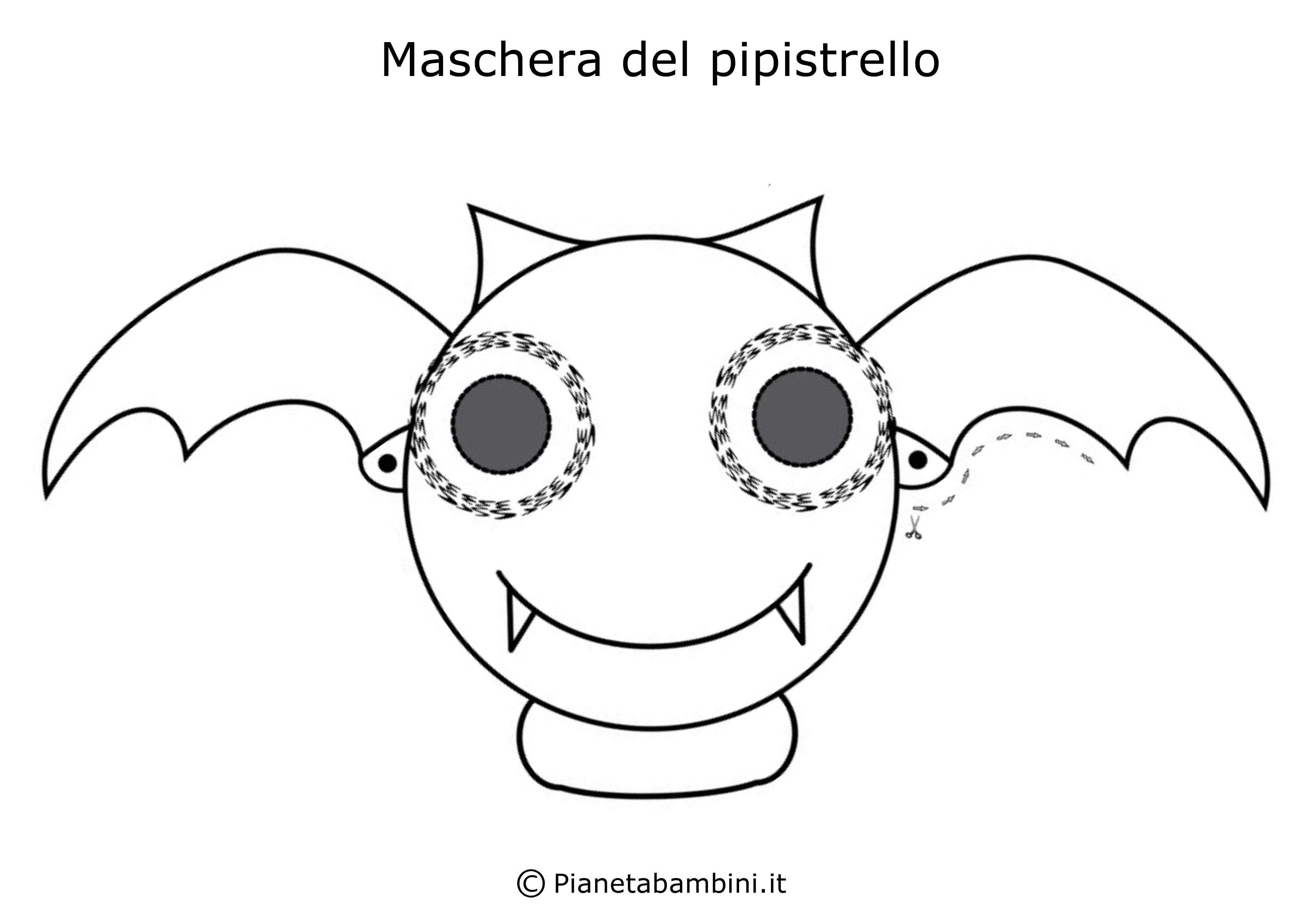 Maschera-Colorare-Pipistrello