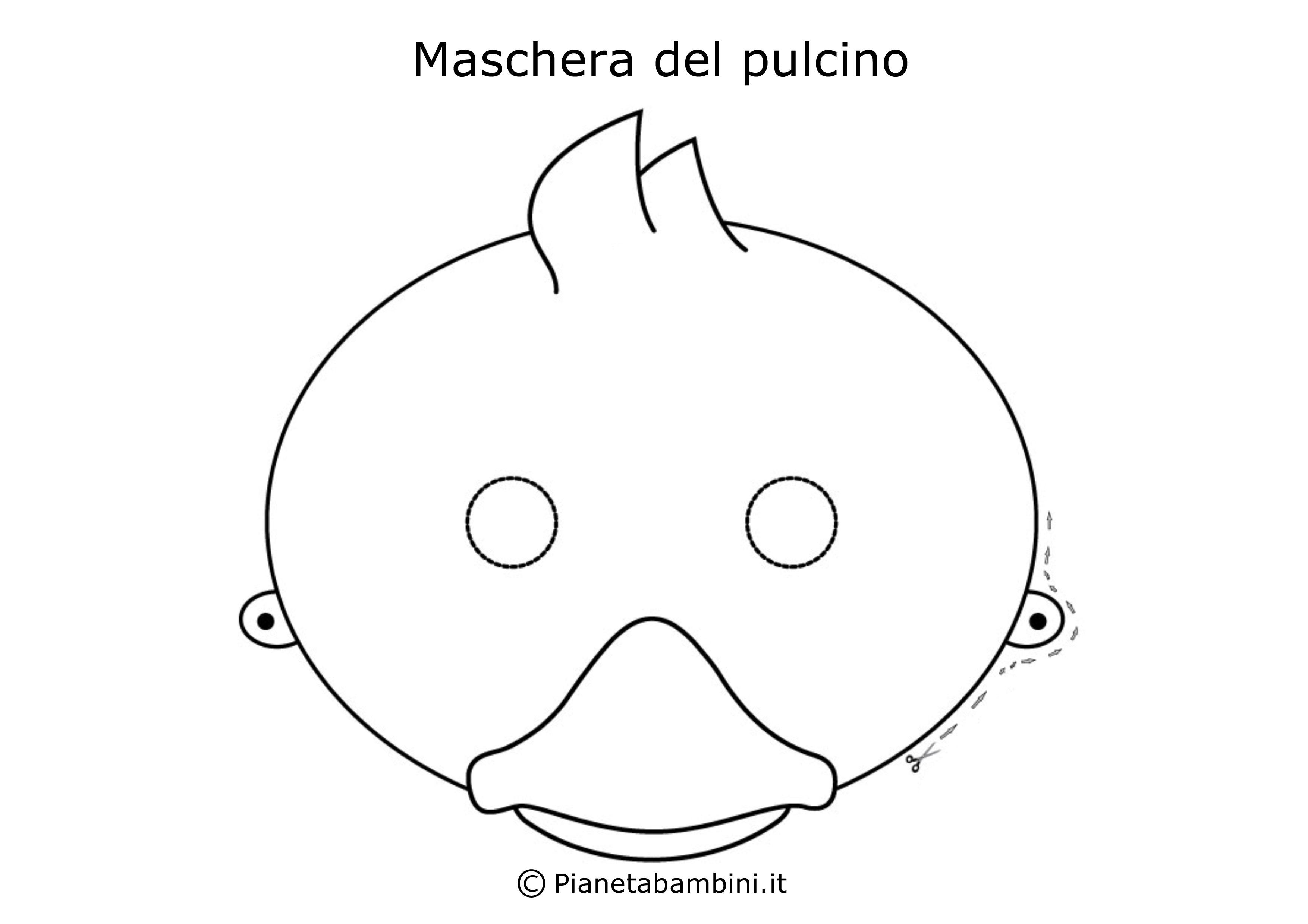 Maschera-Colorare-Pulcino