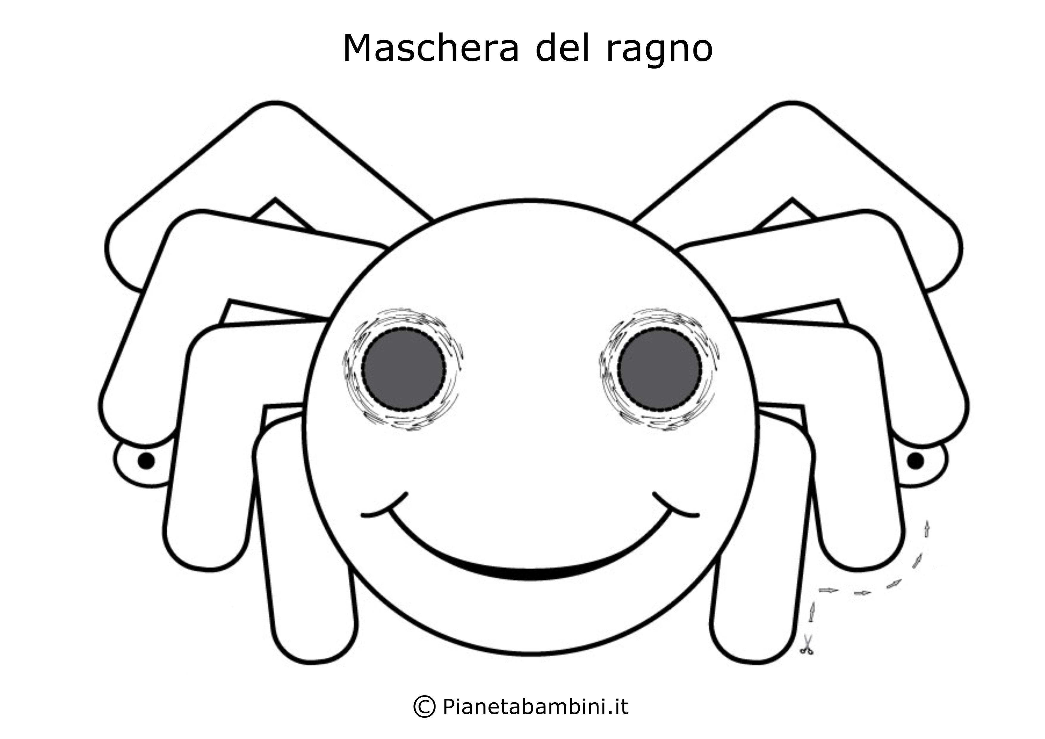 Maschera-Colorare-Ragno
