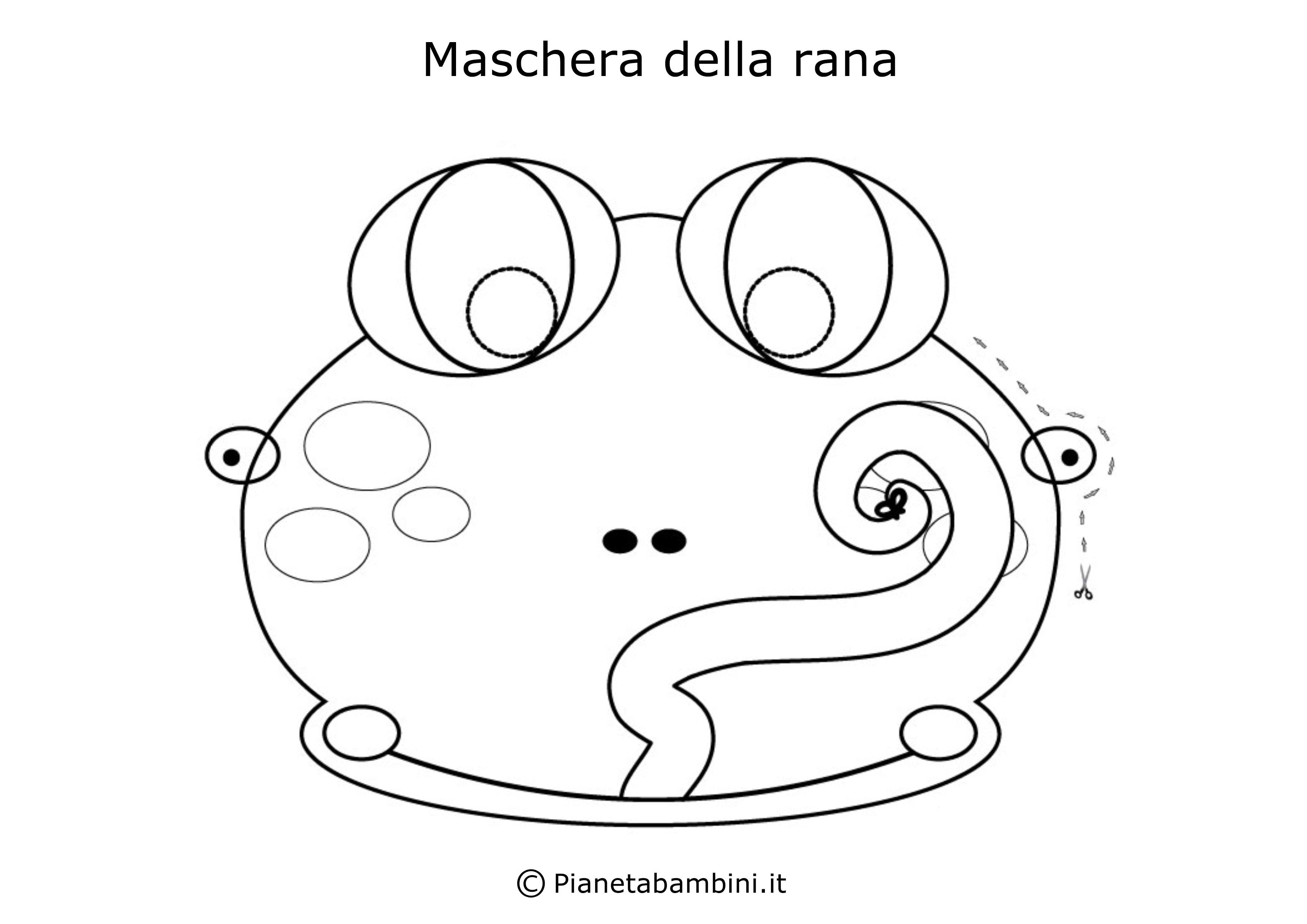 Maschera-Colorare-Rana