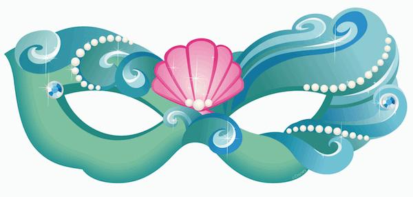 Maschera della principessa Ariel da stampare e ritagliare