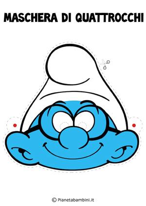 Immagine della maschera di Puffo Quattrocchi