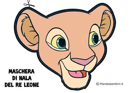 Immagine della maschera di Nala del Re Leone