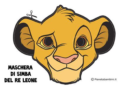 Immagine della maschera di Simba del Re Leone