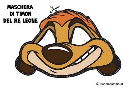 Immagine della maschera di Timon del Re Leone