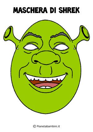 Immagine della maschera di Shrek