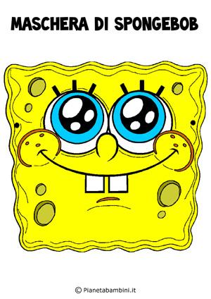 Immagine della maschera di Spongebob