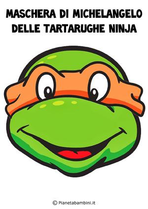 Immagine della maschera di Michelangelo delle Tartarughe Ninja