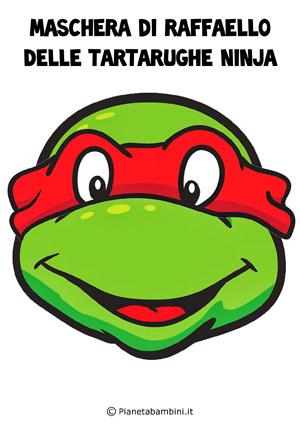 Immagine della maschera di Raffaello delle Tartarughe Ninja