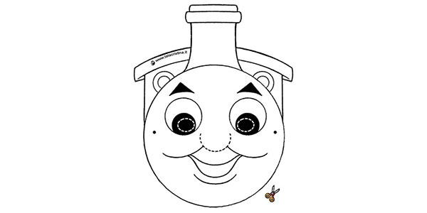 Maschere di Carnevale di Trenino Thomas da stampare e ritagliare