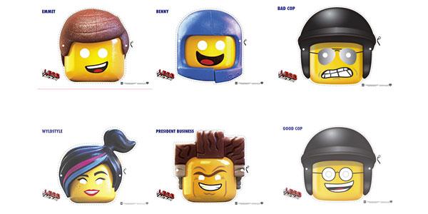 Maschere di Carnevale dei LEGO da stampare e ritagliare
