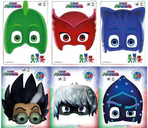 Maschere di Carnevale di PJ-Masks da stampare e ritagliare