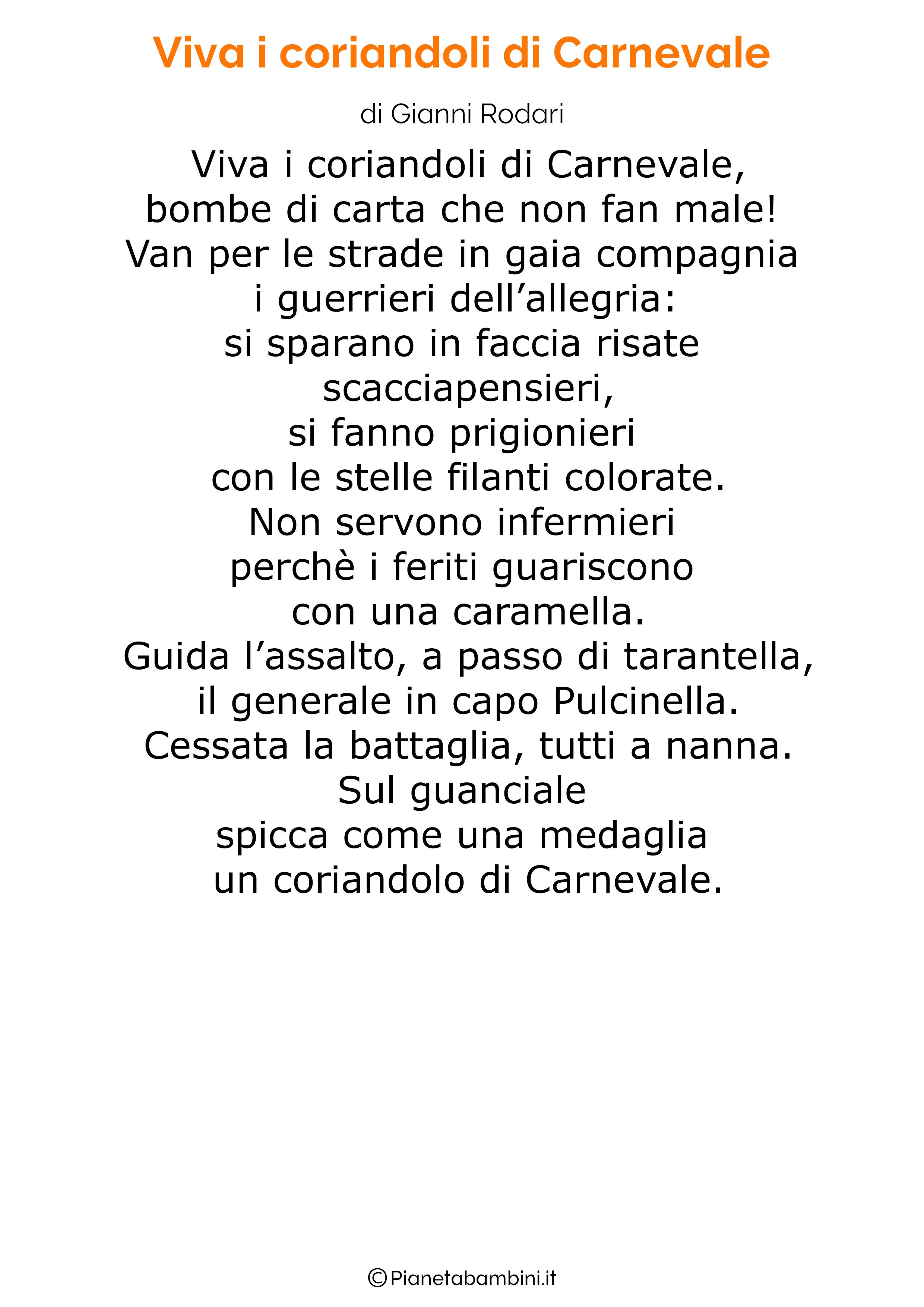 Poesie di Carnevale per bambini 01