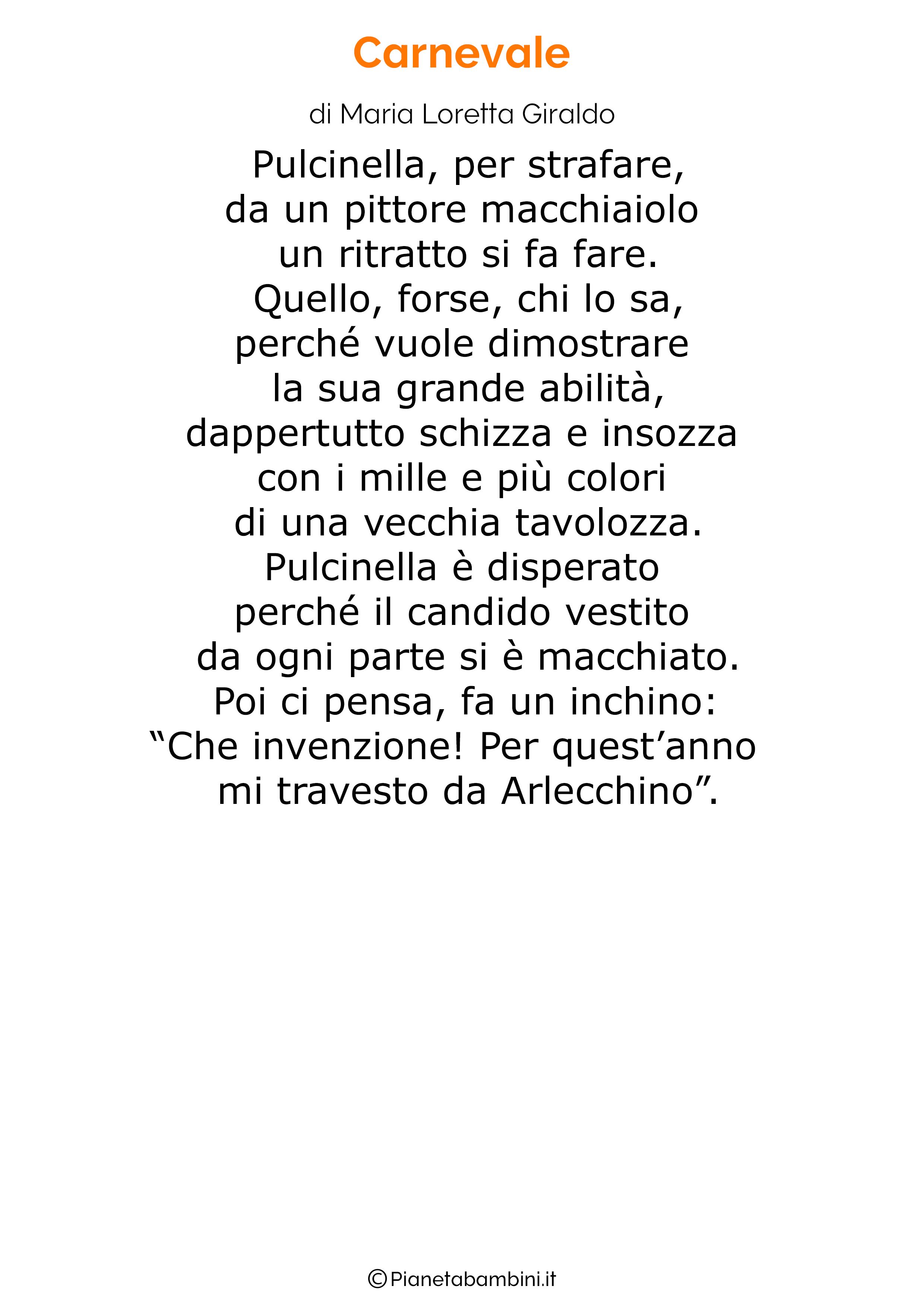 Poesie di Carnevale per bambini 10