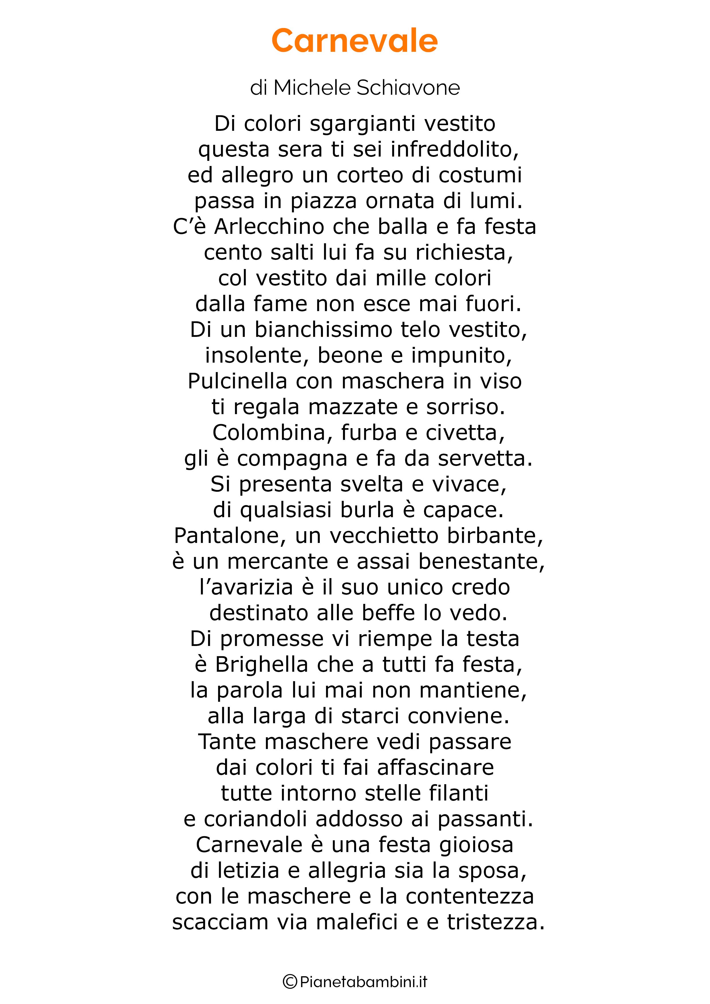 Poesie di Carnevale per bambini 15