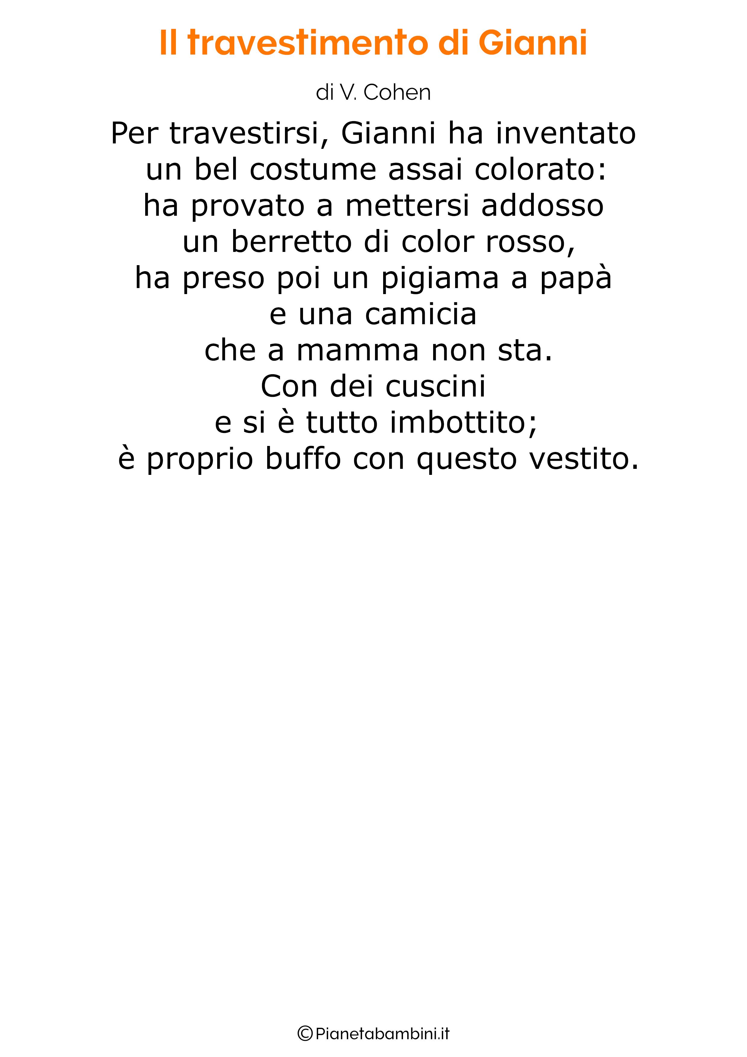 Poesie di Carnevale per bambini 16