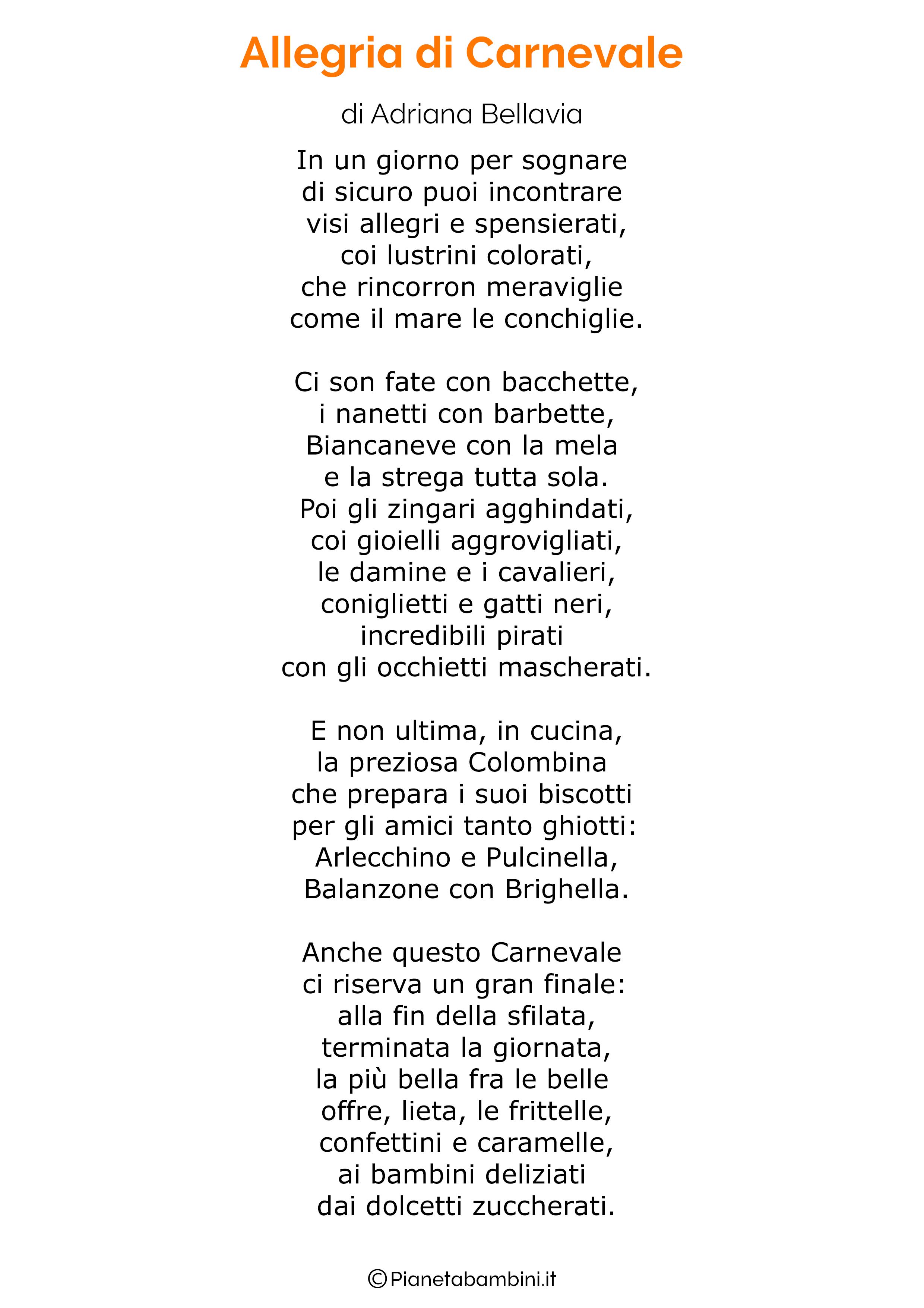 Poesie di Carnevale per bambini 20
